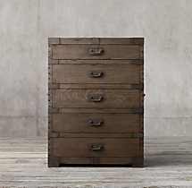Heirloom Silver-Chest 5-Drawer Dresser