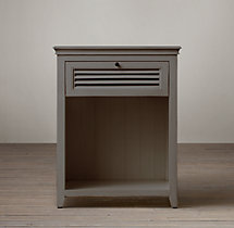"Shutter 24"" Open Nightstand"