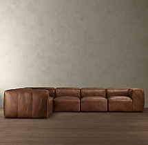 Preconfigured Fulham Leather L-Sectional
