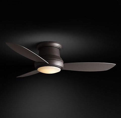 Ceiling fans rh more sizes finishes concept outdoor led flushmount ceiling fan mozeypictures Images