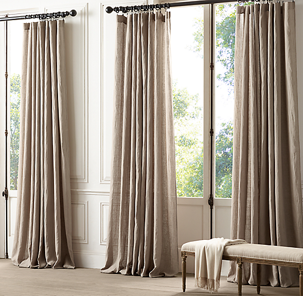 Mini sheer stripe drapery for Restoration hardware window shades