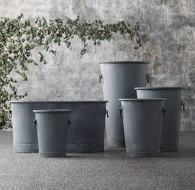 zinc trough planter, zinc planter trays, zinc finish, on zinc planters cheap
