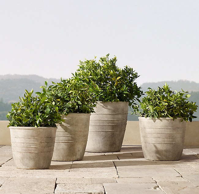 Adamo Cast Stone Planter