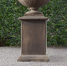 Paolo Cast Stone Pedestal Fossil