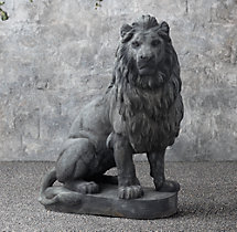 19th C. Belgian Cast Stone Lions
