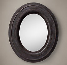 Salvaged Oval Mirror Black - XL