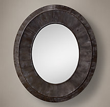 Salvaged Pieced Oval Black - XL