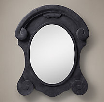 Salvaged Mansard Scroll Mirror - XL