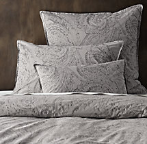 Garment-Dyed Percale Paisley Sham