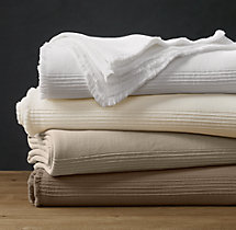 Ribbed Cotton Oversized Bed Throw