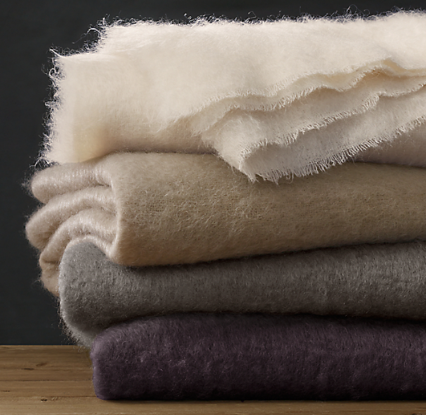 Luxe Mohair Oversized Bed Throw