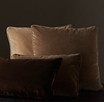 Vintage Velvet Piped Pillow Cover