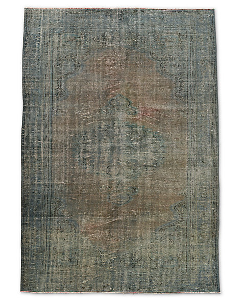 "Vintage Color-Wash Rug 6'1"" X 8'10"""