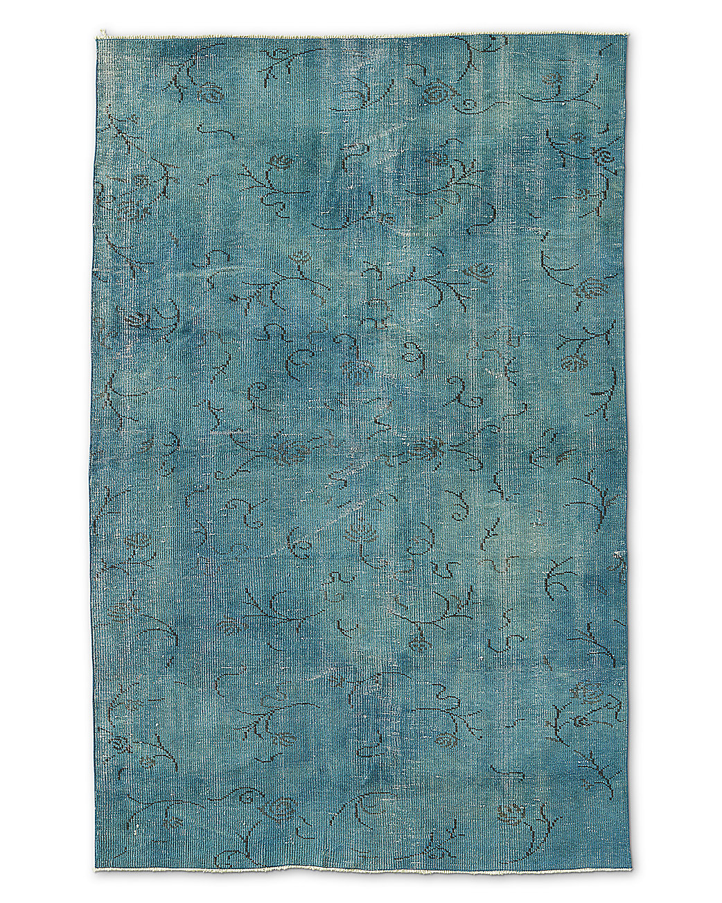 "Vintage Color-Wash Rug 4'9"" X 7'5"""
