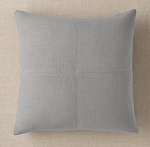 Custom Heavyweight Belgian Linen 4-Square Square Pillow Cover