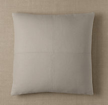 Custom Basket Weave Linen 4-Square Square Pillow Cover