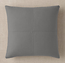 Custom Brushed Linen Cotton 4-Square Square Pillow Cover