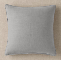 Custom Heavyweight Belgian Linen Stitched Square Pillow Cover