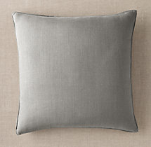 Custom Belgian Textured Linen Stitched Square Pillow Cover