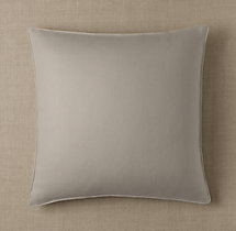 Custom Basket Weave Linen Stitched Square Pillow Cover