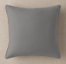 Custom Brushed Linen Cotton Stitched Square Pillow Cover
