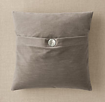 Custom Vintage Velvet Button Square Pillow Cover