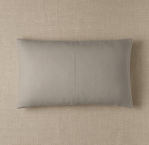 Custom Basket Weave Linen 4-Square Lumbar Pillow Cover