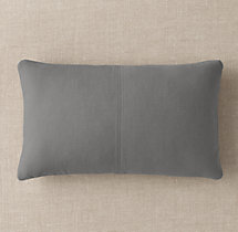 Custom Brushed Linen Cotton 4-Square Lumbar Pillow Cover