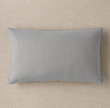 Custom Heavyweight Belgian Linen Stitched Lumbar Pillow Cover