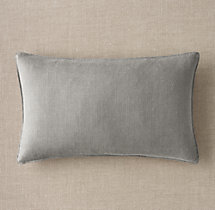 Custom Belgian Textured Linen Stitched Lumbar Pillow Cover