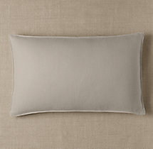 Custom Basket Weave Linen Stitched Lumbar Pillow Cover