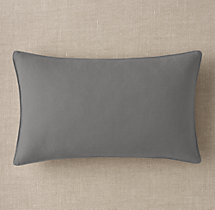 Custom Brushed Linen Cotton Stitched Lumbar Pillow Cover