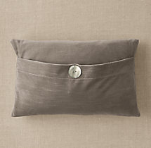 Custom Vintage Velvet Button Lumbar Pillow Cover