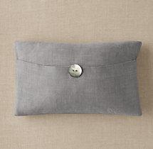 Custom Perennials 174 Classic Linen Weave Button Pillow Cover