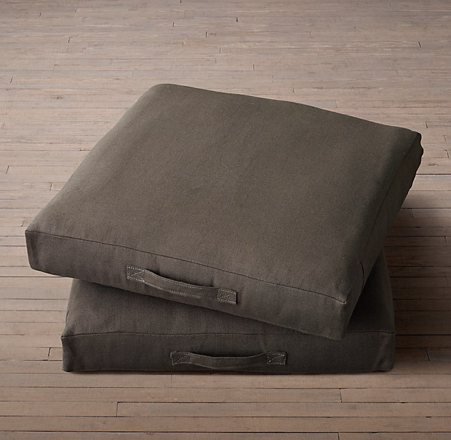 Custom Heavyweight Belgian Linen Floor Pillow