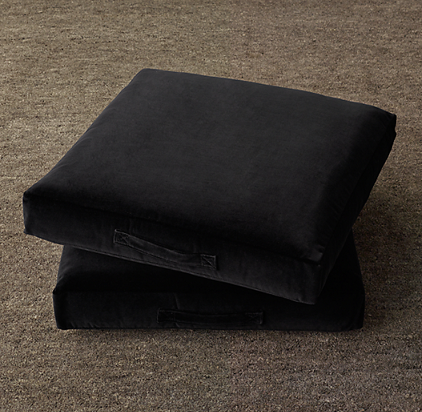 Floor Pillows Restoration Hardware : Custom Vintage Velvet Floor Pillow