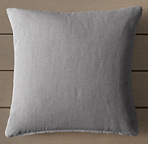 Custom Perennials® Canvas Knife-Edge Square Pillow Cover