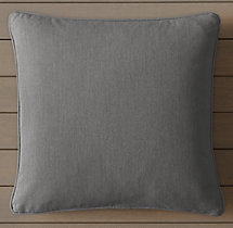 Custom Perennials® Canvas Piped Square Pillow Cover
