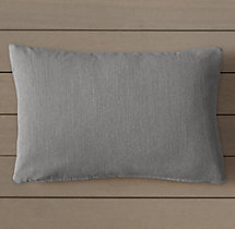Custom Perennials® Canvas Knife-Edge Lumbar Pillow Cover