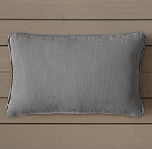 Custom Perennials® Canvas Piped Lumbar Pillow Cover
