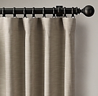 Custom Perennials® Classic Linen Rod-Pocket Drapery