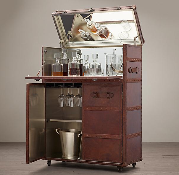 Mayfair bar cart vintage cigar - Mobile bar vintage ...