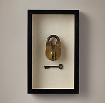 Vintage Lock & Key - Brass