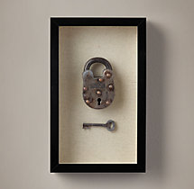 Vintage Lock & Key - Metal