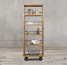 Wood & Steel Narrow Shelving