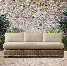 "66"" Provence Classic Three-Seat Armless Sofa Cushions"