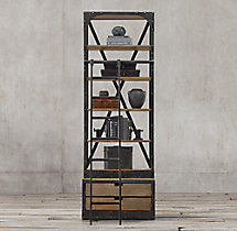 1950s Dutch Shipyard Single Shelving