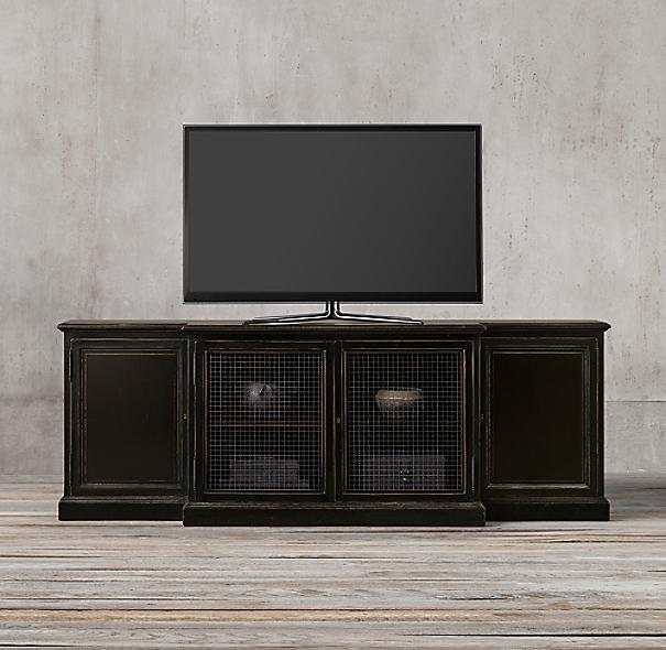 ... Restoration Hardware Furniture Manufacturer : Th C English Notary Media  Console ...