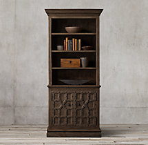 17th C. Castelló Double-Door Sideboard & Open Hutch