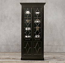 Georgian Fretwork Double-Door Cabinet